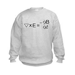 Faraday's Law of Induction Kids Sweatshirt