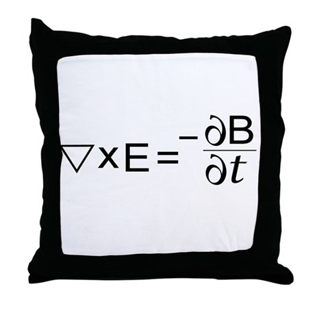 Faraday's Law of Induction Throw Pillow