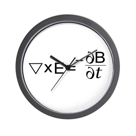 Faraday's Law of Induction Wall Clock