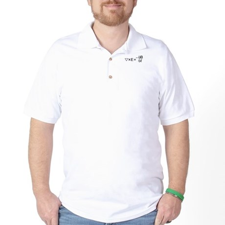 Faraday's Law of Induction Golf Shirt