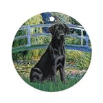 Bridge & Black Lab Ornament (Round)