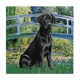 Bridge & Black Lab Tile Coaster