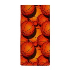 Basketball Pattern 1 Beach Towel