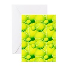 Tennis Ball Pattern 2 Greeting Cards