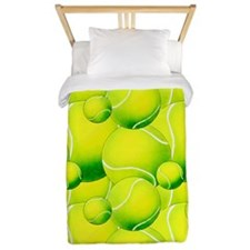 Tennis Ball Pattern 2 Twin Duvet