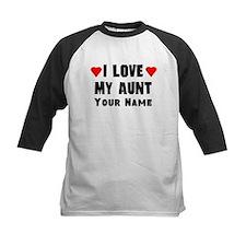 I Love My Aunt (Custom) Baseball Jersey