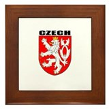 Czech Coat of Arms Framed Tile