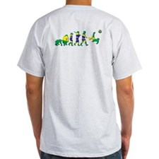 Evolution of Brazil Football T-Shirt