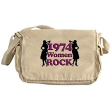 40th Birthday Gifts, 1974 Women Rock Messenger Bag