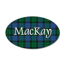 Tartan - MacKay 20x12 Oval Wall Decal