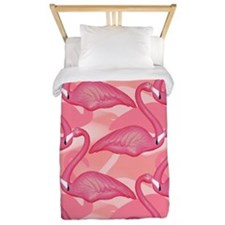Pink Flamingo Pattern 2 Twin Duvet