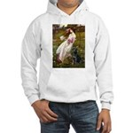 Windflowers & Black Lab Hooded Sweatshirt