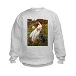 Windflowers & Black Lab Kids Sweatshirt