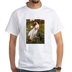 Windflowers & Black Lab White T-Shirt