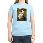 Windflowers & Black Lab Women's Light T-Shirt
