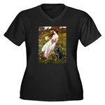 Windflowers & Black Lab Women's Plus Size V-Neck D