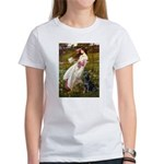 Windflowers & Black Lab Women's T-Shirt