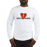I Love Social Work Long Sleeve T-Shirt