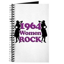 50th Birthday Gifts, 1964 Women Rock Journal