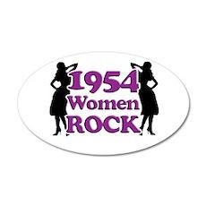 60th Birthday Gifts, 1954 Women Rock 20x12 Oval Wa