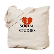 I Love Social Studies Tote Bag
