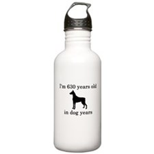 90 birthday dog years doberman Water Bottle