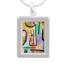 Klee - Archangel, a Paul Silver Portrait Necklace