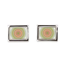 Bright Blessings Mandala Cufflinks