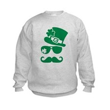 Irish sunglasses mustache Sweatshirt