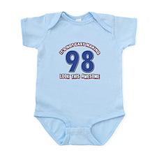 98 year old birthday designs Infant Bodysuit