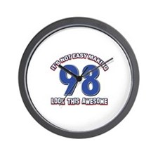 98 year old birthday designs Wall Clock