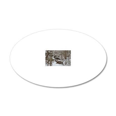 Winter Wonderland  20x12 Oval Wall Decal