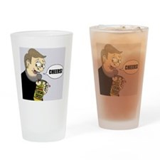 """Cheers!"" Special Brew Colour Drinking Glass"