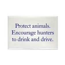 Protect Animals Rectangle Magnet (10 pack)