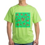 Patriotic Hearts Galore Green T-Shirt