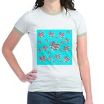 Patriotic Hearts Galore Jr. Ringer T-Shirt