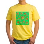 Patriotic Hearts Galore Yellow T-Shirt