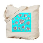 Patriotic Hearts Galore Tote Bag