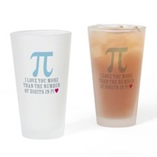 Digits in Pi Drinking Glass