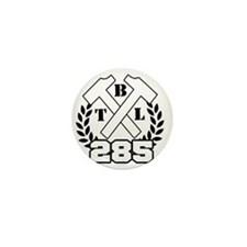 BTL Hammers White Mini Button