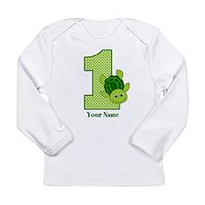 Personalized Turtle 1st Birthday Long Sleeve Infan