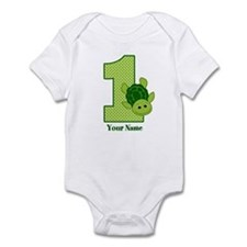 Personalized Turtle 1st Birthday Infant Bodysuit