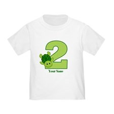 Personalized Turtle 2nd Birthday T