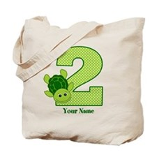 Personalized Turtle 2nd Birthday Tote Bag