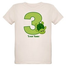 Personalized Turtle 3rd Birthday T-Shirt
