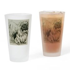 Pekingese Drinking Glass