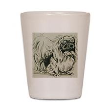 Pekingese Shot Glass