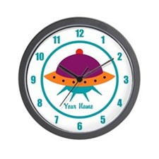 Alien Space Ship Kids Wall Clock