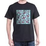 Peace Symbols Galore Dark T-Shirt