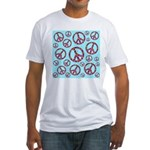 Peace Symbols Galore Fitted T-Shirt